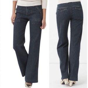 Anthropologie Wide Leg Denim Flare Trouser Jeans